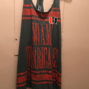Tops - Miami Hurricanes XL tank, brand new with tags